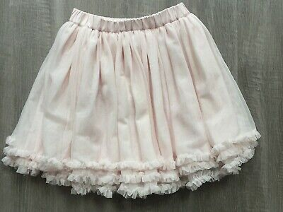 The White Company Girls Stunning Pale Pink Netted Frill Skirt 5-6 Years Vgc