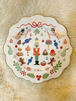 Sold Out ~ RIFLE Paper Co. for ANTHROPOLOGIE Nutcracker Salad Dessert Plate NEW