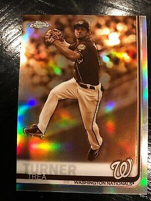 Trea Turner 2019 Topps Chrome Sepia Refractor Hot Player!