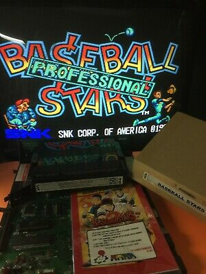 Baseball Stars Professional Neo Geo MVS cartridge by SNK Tested and Working 100%