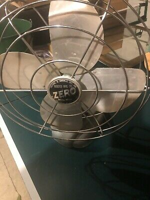Antique Bersted Zero Electric Table Fan Model 1275R Vintage Unique Tested Works!