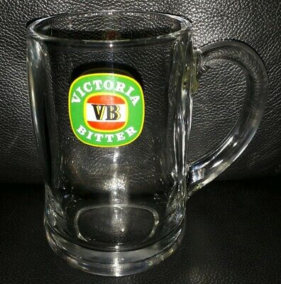 Rare Collectable Vb Victoria Bitter Glass Beer Mug In Great Used Condition
