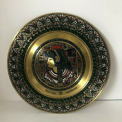 Rare Vintage Egypt Air Airlines Brass Goddess Isis Plate Mid Century