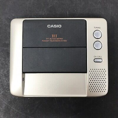 TV Portable by Casio TFT EV-600 battery Powered Vtg Television