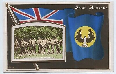 1910 Rp Postcard South Australia Group Aborigines Darwin Northern Territory G71