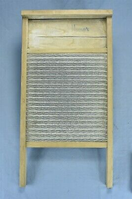 Antique MAID OF HONOR WASHBOARD UNUSUAL SCRUBBING SURFACE LAUNDRY ZINC WOOD 8353