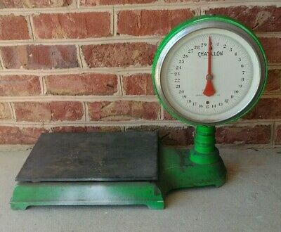 Antique Chatillon Type 870 30# Old Country Store Floor Flour Sugar Scale