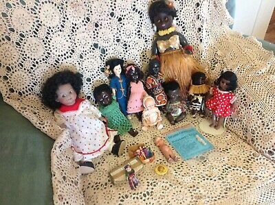 Vintage/Antique Dolls Bundle 15 In Total Cabinet Dolls