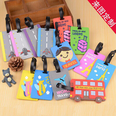 Travel Luggage Bag Tags Suitcase Baggage Name Address ID Label with Privacy Cove