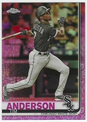 2019 Topps Chrome - PINK Refractors - #186 - TIM ANDERSON - Chicago White Sox