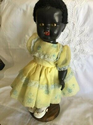"""BLACK 14"""" DOLL made in England"""