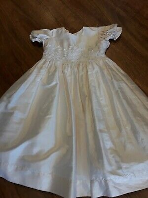 Silk Baby Dress size 18 mths special occasion/christening/flowergirl Ivory