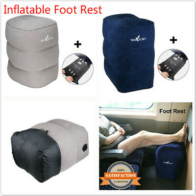 Inflatable Foot Rest Travel Portable Pillow Cushion Kid Bed Pad Office Home AU