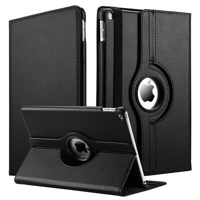 New iPad 7th Generation 10.2 Case,360 Degree Rotating/Genuine Leather Smart Case
