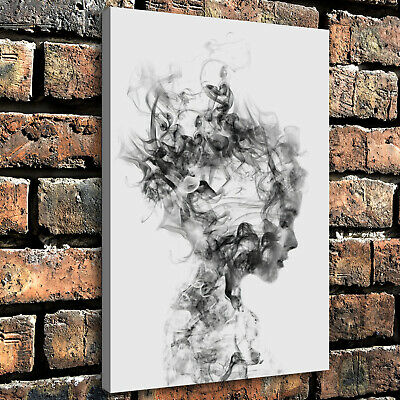 """12""""x18""""Abstract art woman HD Canvas prints Home painting Decor Wall  Picture"""