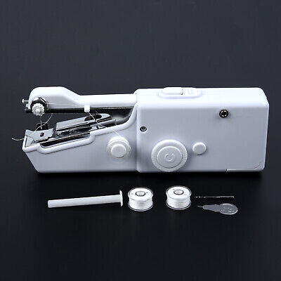 1 X Portable Cordless Hand Held Single Stitch Fabric Sewing Machine Home Travel