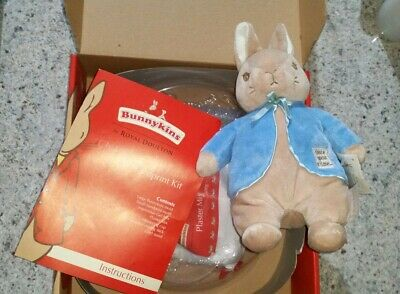 Peter Rabitt Plush Toy & Bunnykins Keepsake Plaster Cadt Kit Nwt
