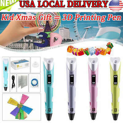 New Xmas Gift 3D Printing Pen Doodler Drawing Toys Present For Boys Girls 4Color