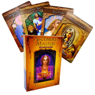 44Pcs Ascended Masters Oracle Tarot Deck Cards by Doreen Virtue Party Board Game