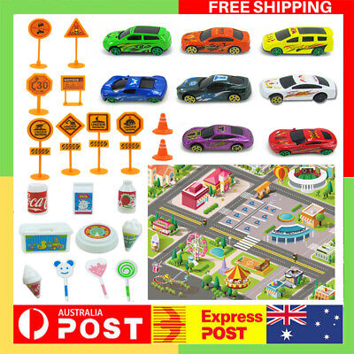 29Pcs City Car Baby Kids Rug City Carpet Car Play Mat Track Educational Toy