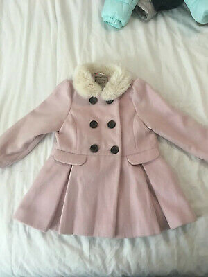 Girls NEXT Pink Winter Coat Age 2-3 Years Worn Once