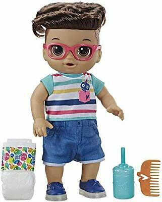 Baby Alive Step 'N Giggle Baby Brown Hair Boy Doll with Light-Up Shoes,