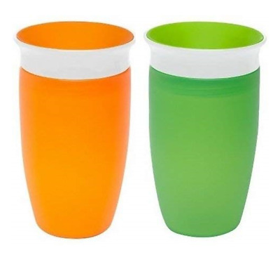 Munchkin Miracle 360 Sippy Cup (2 Pack) Green & Orange