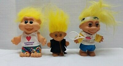 Vintage Troll Doll Action Figure Toy Russ 1980s 1990s Tennis Player Library Lot