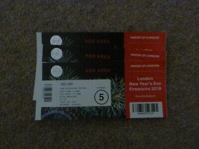 London New Year Firework Ticket, Red Area (London Eye).   3 Tickets   Entrance 5