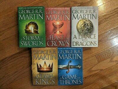 Song of Ice and Fire: A Game of Thrones Set, books 1-5 Hardcover HC HB, Martin