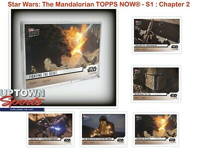 🚀 🛸  Star Wars: The Mandalorian TOPPS NOW® 5-Card Pack - S1 : Chapter 2  🚀 🛸