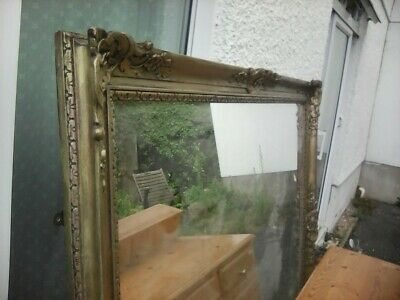 Fabulous Huge Mirror Deeply Carved Frame 1.6m x 1.8m Over Mantle Fireplace