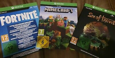 Xbox One Digital Games Bundle - Sea Of Thieves, Minecraft, and Fortnite add-on