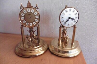 TWO LARGE 400 DAY ANNIVERSARY CLOCKS CIRCA 1960s FOR SPARES OR REPAIR
