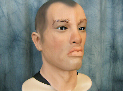 Latex Mask RICK - Real. Male Effect Rubber Gum TPE Man Face Effect Disguise Guy