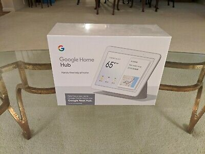 Google Nest Hub with Built-In Google Assistant, Chalk (GA00516-US) - Brand New