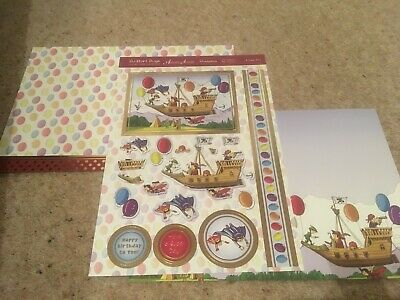 Hunkdory Kit - A Super Day - Die Cut Topper Sheet & 2 Backing Cards