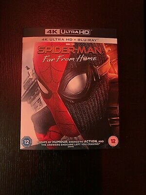 Spider-man Far from Home 4K UHD Blu ray and Blu ray