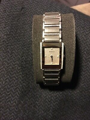 RADO Jubilé Intergral Watch. Diamonds, Steel And Ceramic