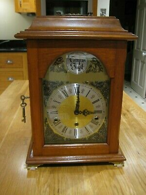 Mantle Clock. Reproduction in Mahogany. Westminster Chimes