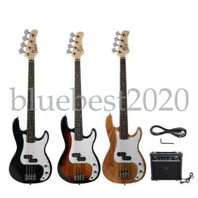 New Glarry  Professional 3 Colors GP Glarry Electric Bass Guitar with AMP