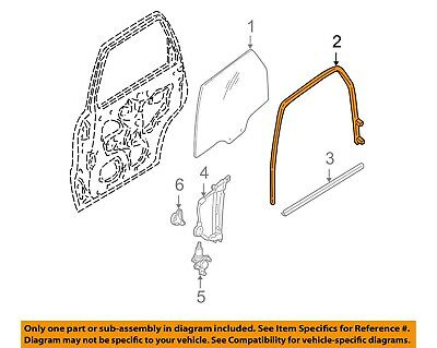 New OEM 1998-2001 Ford Glass Run Channel Assembly Rear Left Hand Side