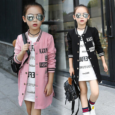 Girl Coat Clothes Teenage Girls Windbreak Kids Baseball Uniform Outwear Jacket