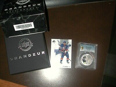 John Tavares 2017 UD Grandeur Silver Frosted coin 234/500 PCGS MS68