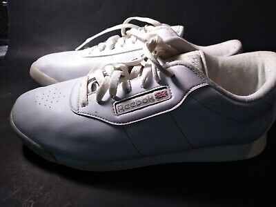 Old Style Womens White Reebok Princess Wide D Classic Shoes Sz 10