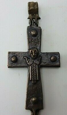CROSS Medieval Ritual   Bronze Pendant  Ancient Rare
