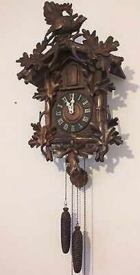 Large Rare Black Forest Trumpeters Clock Needs Servicing For Collection Only.