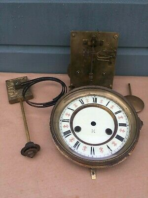 Antique H.a.c Mantel Bracket Clock Double Striking Movement Spares-Repairs