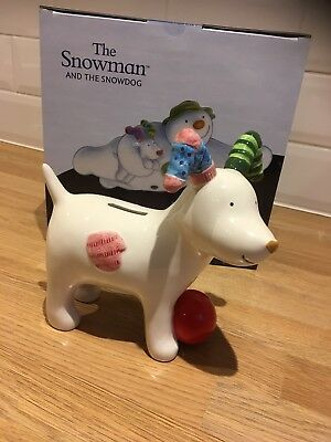 John Beswick Snowman The Snowdog Money Bank BNIB