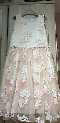 Girls Monsoon Peachy pink Special occasion Party dress age 14-15 years